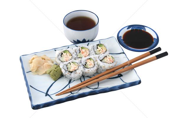 Zdjęcia stock: Sushi · posiłek · odizolowany · California · toczyć