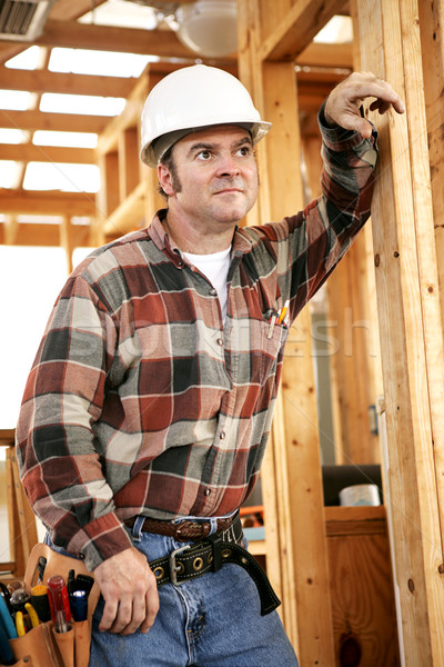 Thoughtful Construction Worker Stock photo © lisafx