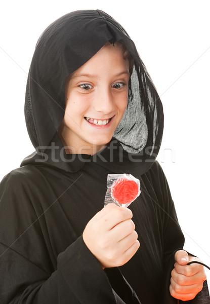 голодный мало гоблин мальчика Хэллоуин костюм Сток-фото © lisafx