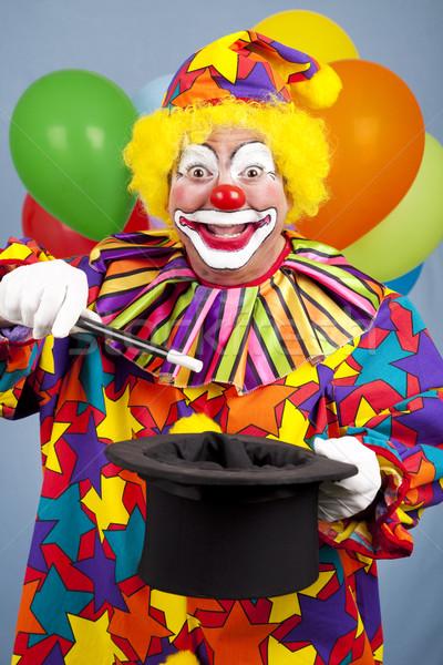 Palhaço truque de mágica feliz aniversário topo seis aniversário Foto stock © lisafx