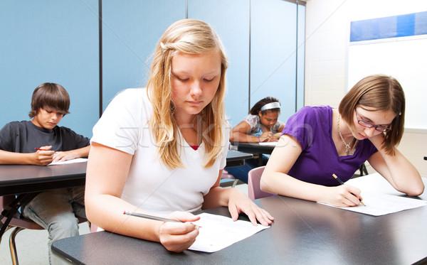 High School Class Test Stock photo © lisafx