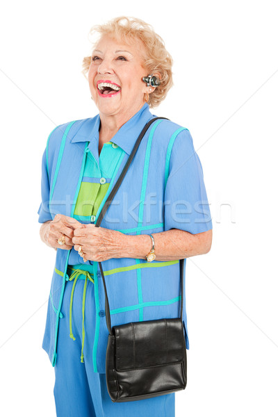 Cellphone Senior Woman - Laughing Stock photo © lisafx