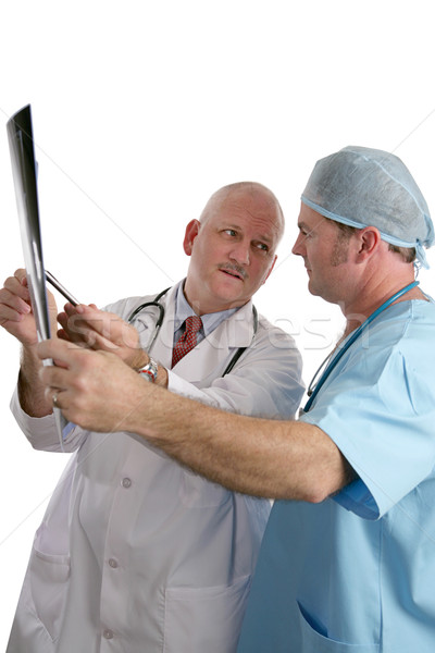 Doctors Consulting on Xray Stock photo © lisafx