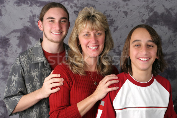 Mom & Sons Portrait 1 Stock photo © lisafx