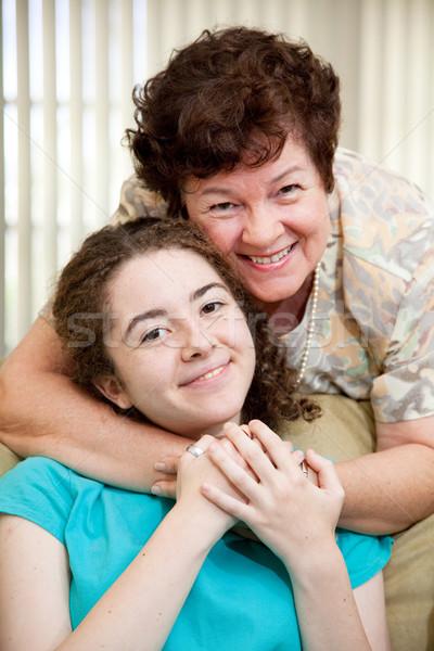 Mom Loves Teen Daughter Stock photo © lisafx