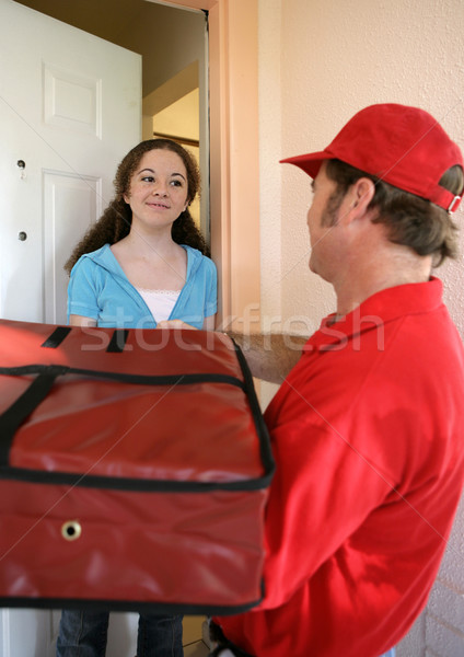 Pizza Home Delivery Stock photo © lisafx