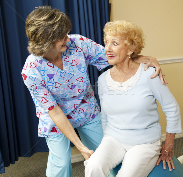 Senior Lady and Physical Therapist Stock photo © lisafx
