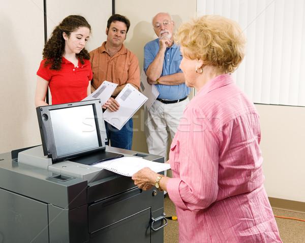 Senior Woman Votes Stock photo © lisafx