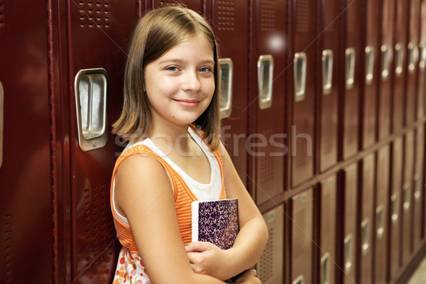 Student by Lockers Stock photo © lisafx