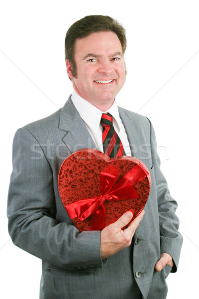 Valentine Guy Holding Heart Stock photo © lisafx