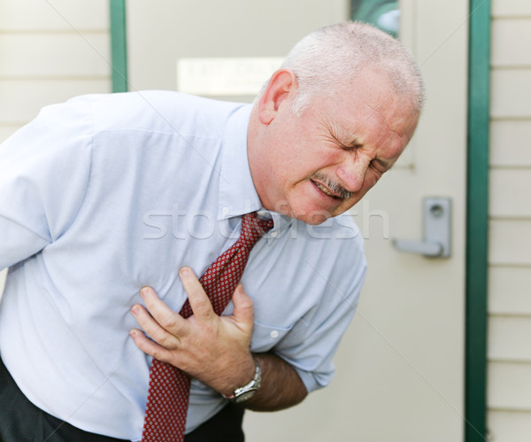 Stock photo: Chest Pain or Nausea