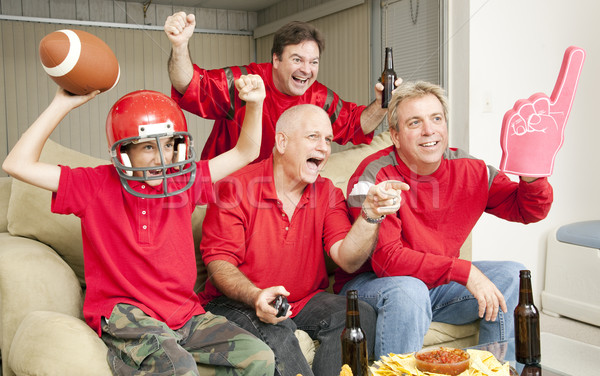 Stock photo: Football Fans - Touch Down