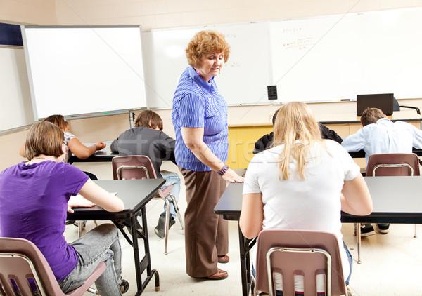 Сток-фото: испытание · алгебра · класс · Math · учитель · школу