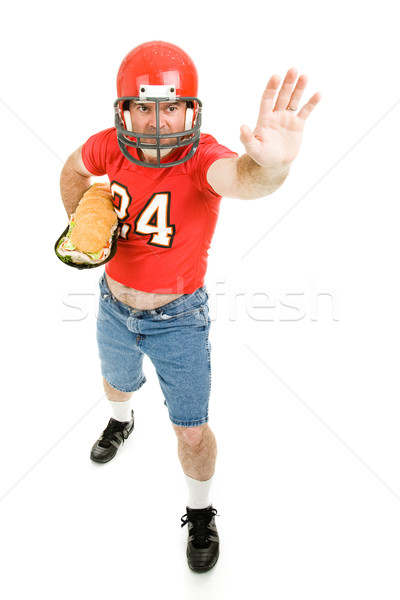 Football Player with Sub Sandwich Stock photo © lisafx