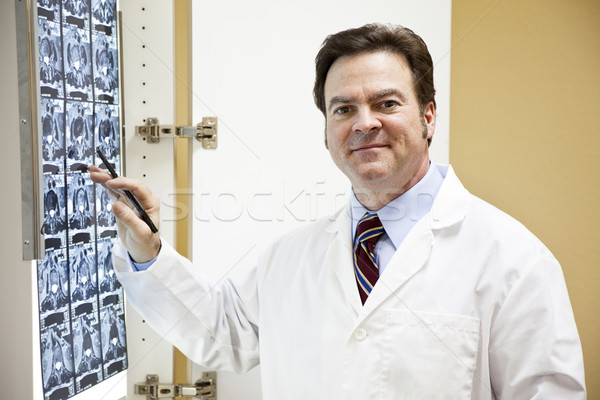 Friendly Doctor with CT Scan Stock photo © lisafx