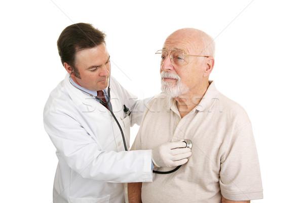 Senior Medical - Stethoscope Stock photo © lisafx