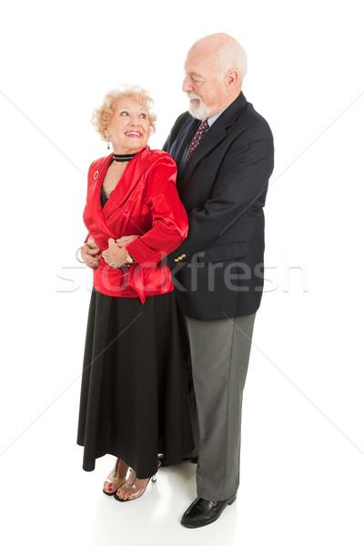 Idős romantikus tánc férj feleség zárt Stock fotó © lisafx