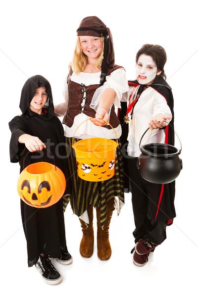 Trio of Kids on Halloween Stock photo © lisafx