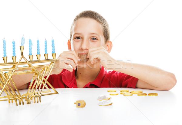 Jewish Child on Hanukkah Stock photo © lisafx
