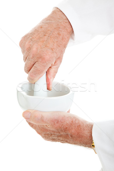 Mortar and Pestle with Hands Stock photo © lisafx