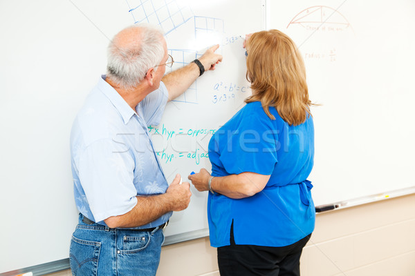 Adult Education - Teaching Math Stock photo © lisafx