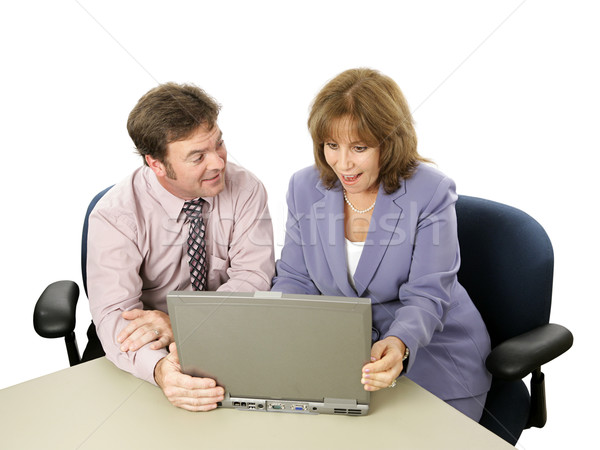 Business Colleagues - Surprise Stock photo © lisafx