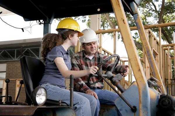 építkezés képzés új munkás vezetés nehézgépek Stock fotó © lisafx