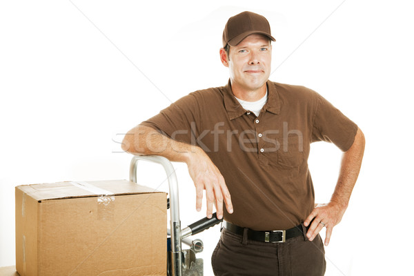 Delivery Man or Mover - Confident Stock photo © lisafx