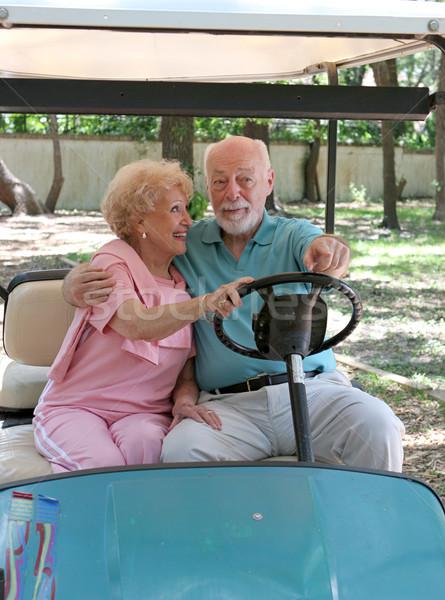 Golf Cart - Backseat Driving Stock photo © lisafx