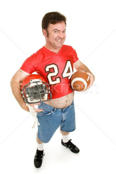 Középiskola futball csillag 40 középkorú férfi középiskola Stock fotó © lisafx