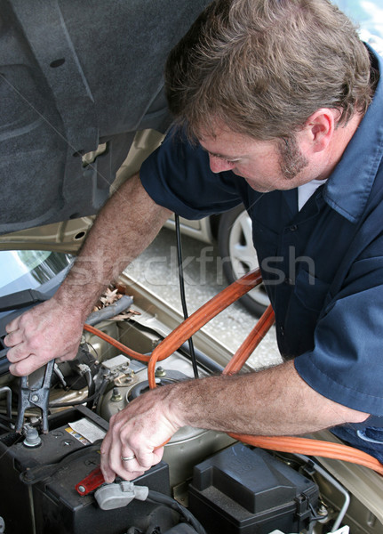 Mechanic & Jumper Cables Stock photo © lisafx