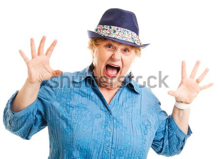 Middle Aged Woman - Shocked Accusation Stock photo © lisafx