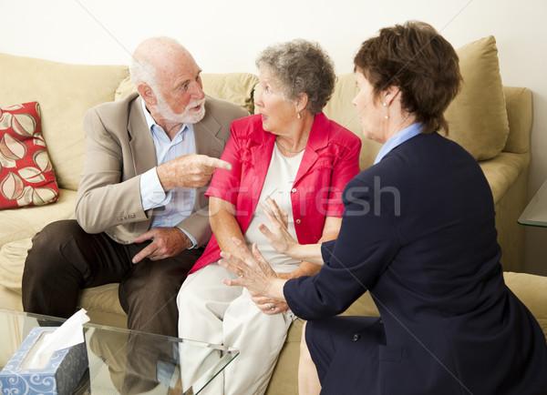Senior casais casal de idosos terapia problemas Foto stock © lisafx