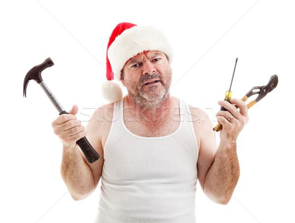 Vacances déception frustré papa Noël Photo stock © lisafx