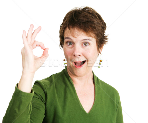 Woman Gives Enthusiastic Okay Stock photo © lisafx