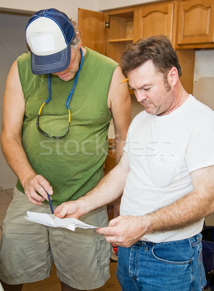 Contractors Check Plans Stock photo © lisafx