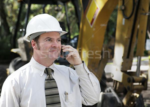 Engineer on Phone Stock photo © lisafx