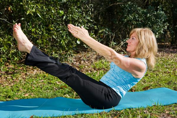 Donna matura pilates montare bella avanzato spostare Foto d'archivio © lisafx