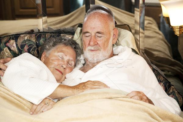 Sleeping Senior Couple Stock photo © lisafx