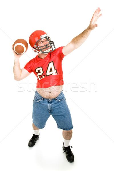 Throwing the Football Stock photo © lisafx