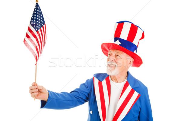 Stock fotó: Nagybácsi · zászló · amerikai · ikon · külső · izolált