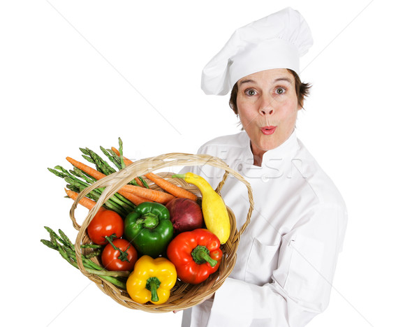 Chef - Locally Sourced Vegetables Stock photo © lisafx