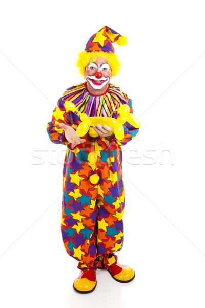 Clown ballon dier geïsoleerd Stockfoto © lisafx