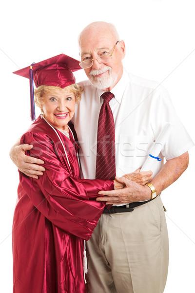 Elderly Graduate with Proud Husband Stock photo © lisafx