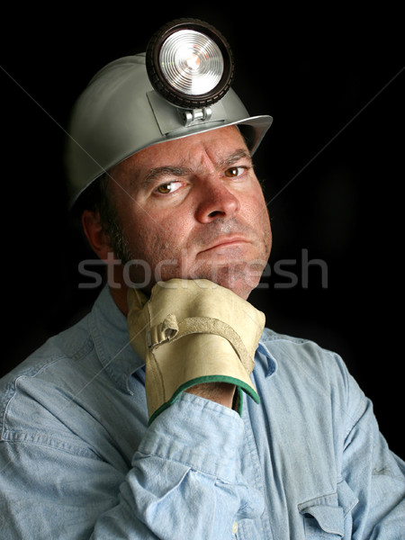 Coal Miner Portrait 2 Stock photo © lisafx
