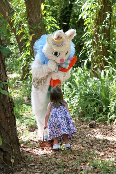 Easter Bunny & Child Stock photo © lisafx