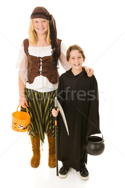 Halloween Pirate and Reaper Stock photo © lisafx