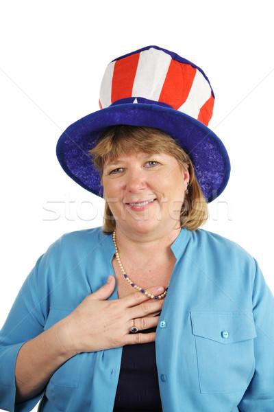 Military Wife Reciting Pledge Stock photo © lisafx