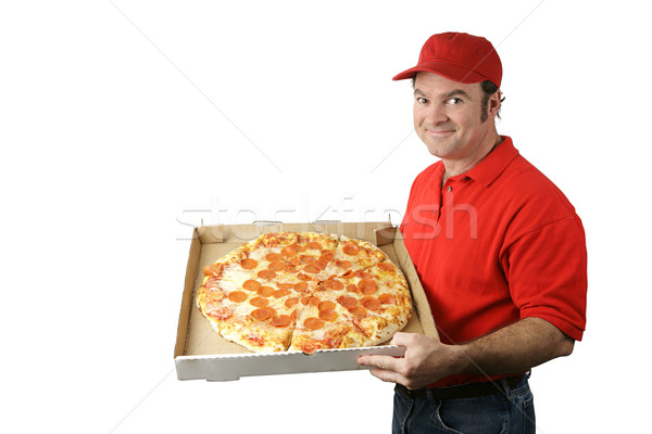 Pizza Man Delivers Stock photo © lisafx