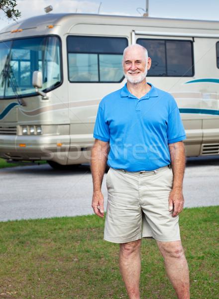 Senior Man with Motor Home Stock photo © lisafx